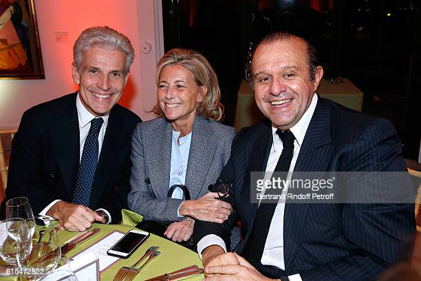 Christophe de Backer Claire Chazal and Lawyer Herve Temime attend the Societe des Amis du Musee d'Art Moderne Dinner Party at the Musee d'Art Moderne...