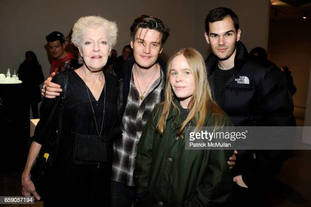Christophe de Menil Nate Lowman Hanna Liden and Lyle Maltz attend TERENCE KOH JEFF KOONS MIKE KELLEY Exhibit Opening at Mary Boone Gallery on April 4...