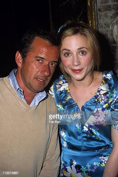 Christophe Dechavanne and Julie Depardieu during Shangri La Hotel Launch Party at Hotel Baccarat in Paris France