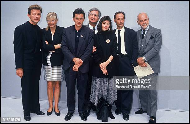 Christophe Dechavanne Jean Claude Brialy Evelyne Bouix Marc Bohan People at the Dior fashion show men collection