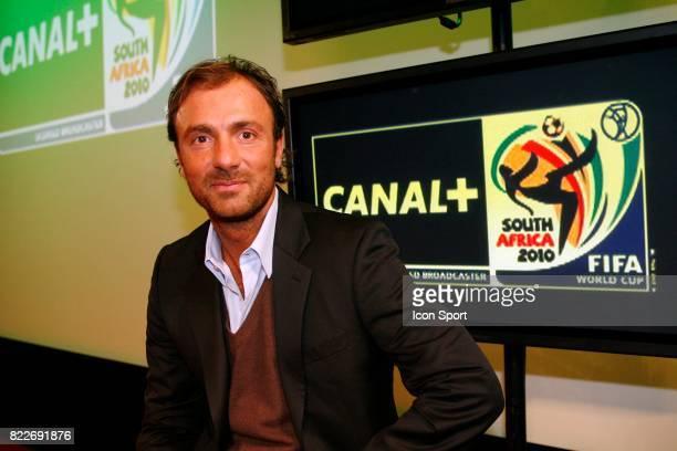 Christophe DUGARRY Presentation du dispositif pour la Coupe du Monde 2010 des chaines Canal Boulogne Billancourt