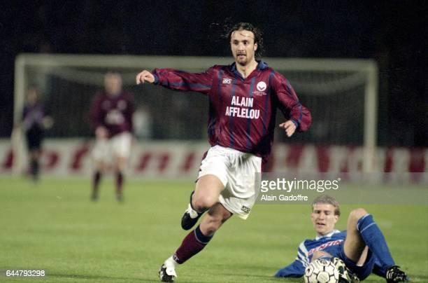 Christophe Dugarry Bordeaux / Slavia Prague 1/2Finale Europa League 1996 Photo Alain Gadoffre / Icon Sport