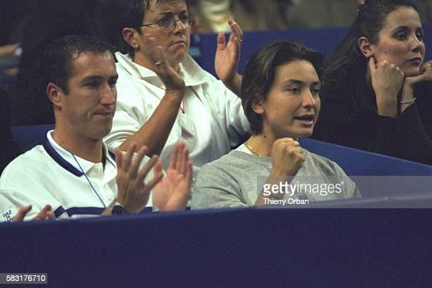 Christophe Fournerie Amelie Mauresmo's trainer Sylvie Bourdon Amelie's girlfriend