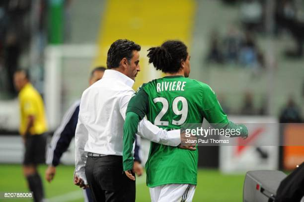 Christophe GALTIER / Emmanuel RIVIERE - - Saint Etienne / Nancy - 31e journee Ligue 1,