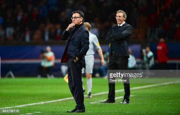 Christophe GALTIER / Laurent BLANC - - Paris Saint Germain / Saint Etienne - 29eme journee de Ligue 1, Photo : Dave Winter / Icon Sport