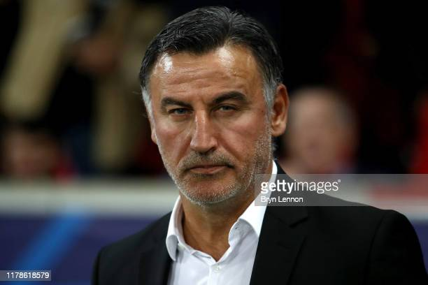 Christophe Galtier, Manager of Lille during the UEFA Champions League group H match between Lille OSC and Chelsea FC at Stade Pierre Mauroy on...