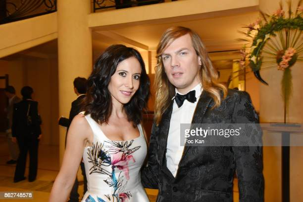 Christophe Guillarme and actress Fabienne Carat attend the 'Gala de L'Espoir' Auction Dinner Against Cancer at the Theatre des Champs Elysees on...