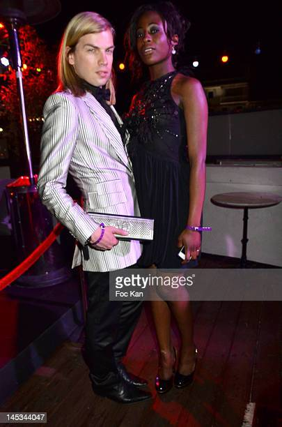Christophe Guillarme and actress jessy Ugolin attend the Queer Palm Awards 2012 - 65th Annual Cannes Film Festival at Le Baron Palais du Festival on...