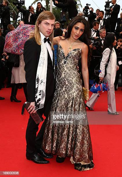 Christophe Guillarme and actress Josephine Jobert attends the 'Jimmy P ' Premiere during the 66th Annual Cannes Film Festival at the Palais des...