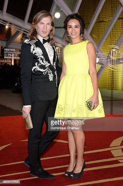 Christophe Guillarme and Aida Touihri attends the Jury Photocall during the 14th Marrakech International Film Festival on December 5 2014 in...