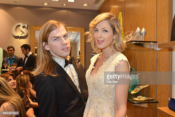 Christophe Guillarme and Eleonore Boccara attend the Carmen Steffens Luxury Leather Shop Cocktail Party during the 67th Annual Cannes Film Festival...