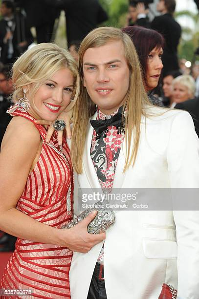 Christophe Guillarme and Hofit Golan at the premiere of Robin Hood during the 63rd Cannes International Film Festival