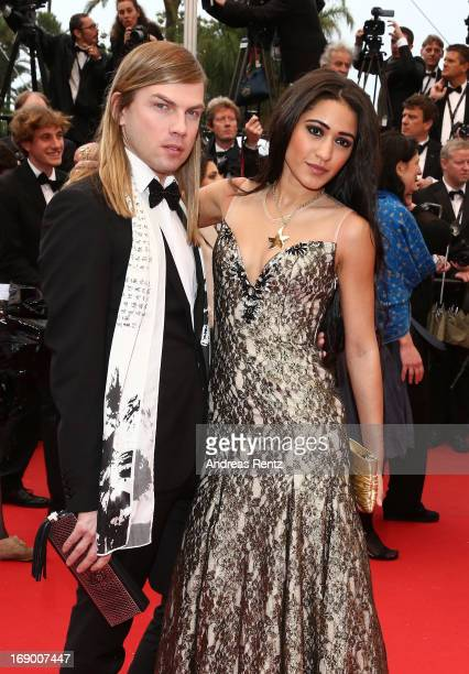 Christophe Guillarme and Josephine Jobert attend the 'Jimmy P ' Premiere during the 66th Annual Cannes Film Festival at the Palais des Festivals on...