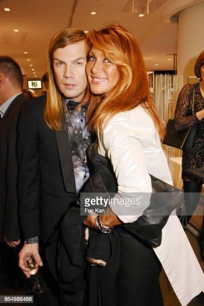 Christophe Guillarme and Julie PietriÊattend the Christophe Guillarme Show as part of the Paris Fashion Week Womenswear Spring/Summer 2018 on...