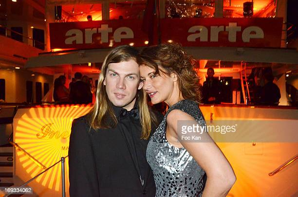 Christophe Guillarme and Marion Dumas attend the Technikart Boat Party At The Arte Boat - The 66th Annual Cannes Film Festival on May 22, 2013 in...