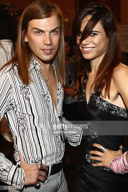 Christophe Guillarme and Melissa Mars attend the Christophe Guillarme Ready to Wear Spring / Summer 2012 show during Paris Fashion Week at Le Balajo...