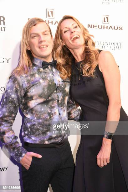 Christophe Guillarme and Miss France 2009 Sophie Thalmann attend the Christophe Guillarme Show as part of the Paris Fashion Week Womenswear...