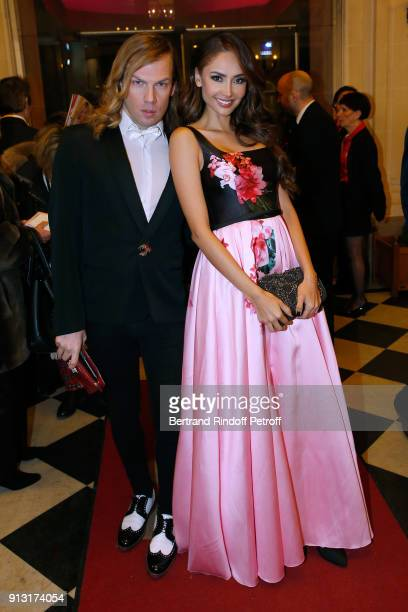 Christophe Guillarme and Patricia Contreras attend the Heart Gala Evening to benefit the Mecenat Chirurgie Cardiaque at Salle Gaveau on February 1...