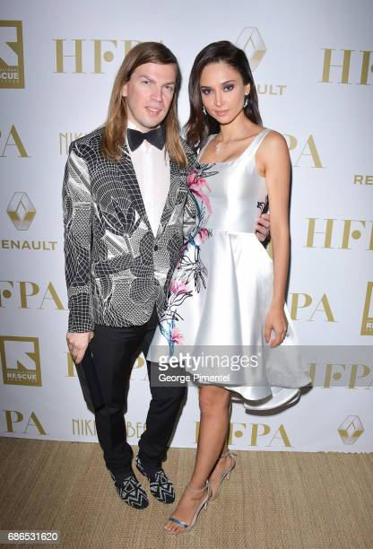 Christophe Guillarme and Patricia Contreras attend the Hollywood Foreign Press Association's 2017 Cannes Film Festival Event in honour of the...