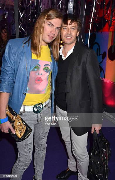 Christophe Guillarme and PR Thierry Marsaux attend the Escada 'Factory' Party at Avenue Montaigne on October 20, 2011 Paris, France.