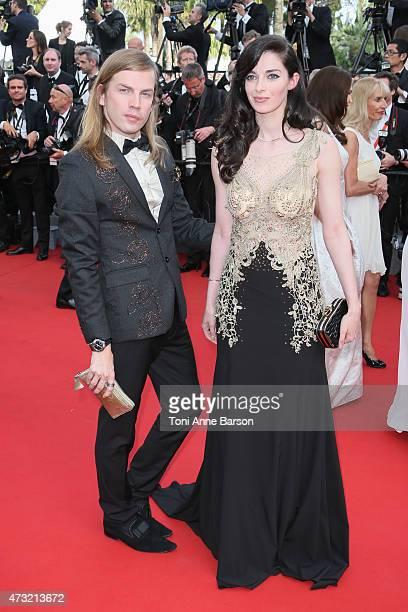 Christophe Guillarme and Sarah Barzyk attend the opening ceremony and 'La Tete Haute' premiere during the 68th annual Cannes Film Festival on May 13...