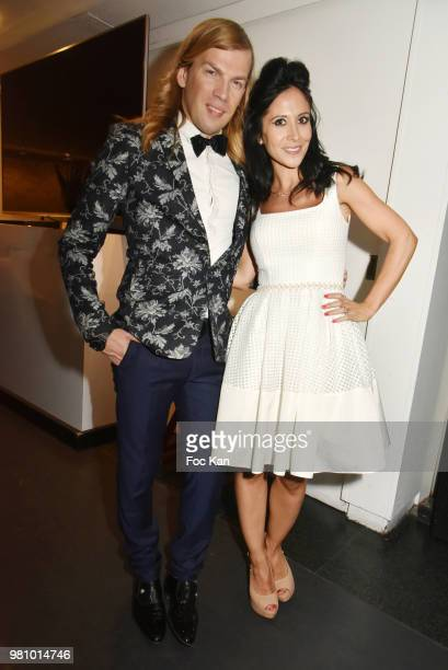 Christophe Guillarme and singer Fabienne Carat attend the Amnesty International 34th Gala at Theatre Champs Elysees and after Party at La Maison...