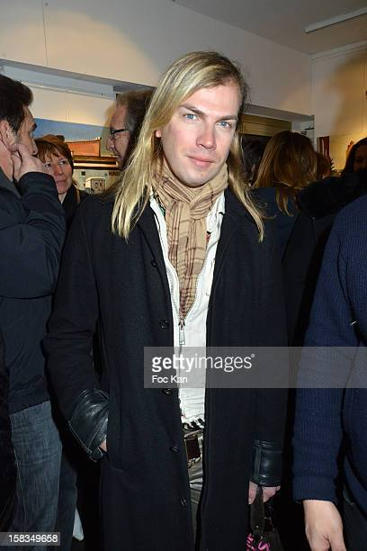 Christophe Guillarme attends the 'Amerique: Instantanes' - Laurent Hubert Painting Exhibition Preview at Galerie Myriane on December 13, 2012 in...