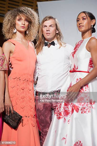 Christophe Guillarme poses after the Christophe Guillarme show as part of the Paris Fashion Week Womenswear Spring/Summer 2017 on September 28, 2016...