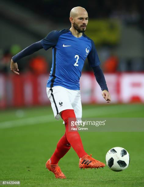 Christophe Jallet of France controls the ball during the international friendly match between Germany and France at RheinEnergieStadion on November...