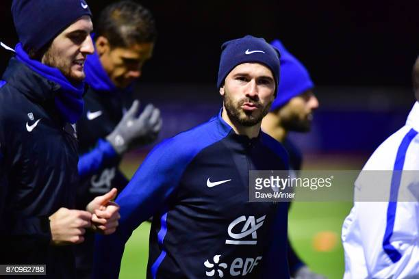 Christophe Jallet of France during the training session at the Centre National de Football in Clairefontaine en Yvelines France on November 6 2017