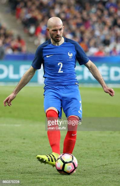 Christophe Jallet of France in action during the international friendly match between France and Spain between France and Spain at Stade de France on...