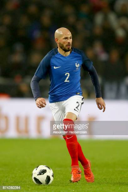 Christophe Jallet of France runs with the ball during the international friendly match between Germany and France at RheinEnergieStadion on November...