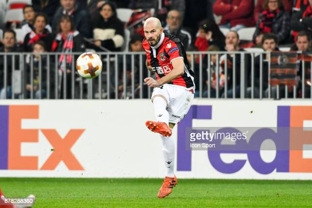 Christophe Jallet of Nice during europa league match between OGC Nice and Zulte Waregem at Allianz Riviera Stadium on November 23 2017 in Nice France