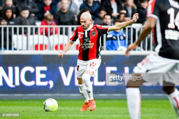 Christophe Jallet of Nice during the Ligue 1 match between OGC Nice and Olympique Lyonnais at Allianz Riviera on November 26 2017 in Nice