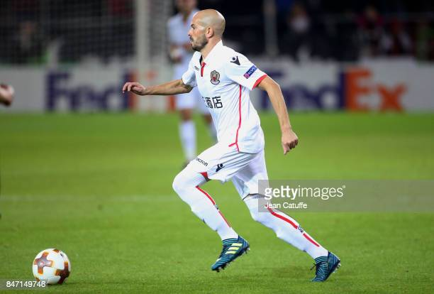 Christophe Jallet of OGC Nice during the UEFA Europa League match between SV Zulte Waregem and OGC Nice at Regenboogstadion on September 14 2017 in...