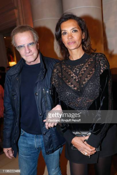 Christophe Lambert and Karine Le Marchand attend the Stethos d'Or 2019 Charity Gala of the Foundation for Physiological Research at on March 11 2019...