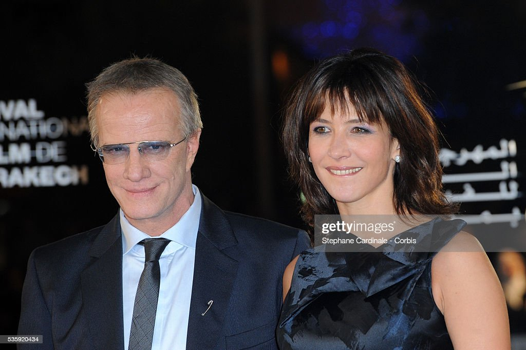 Christophe Lambert and Sophie Marceau attend the Tribute to French Cinema during the Marrakech 10th Film Festival.