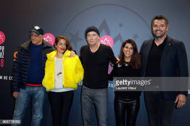 Christophe Lambert Audrey Dana Franck Dubosc Reem Kherici and Aurnaud Ducret attend Opening Ceremony during the 21st L'Alpe D'Huez Comedy Film...