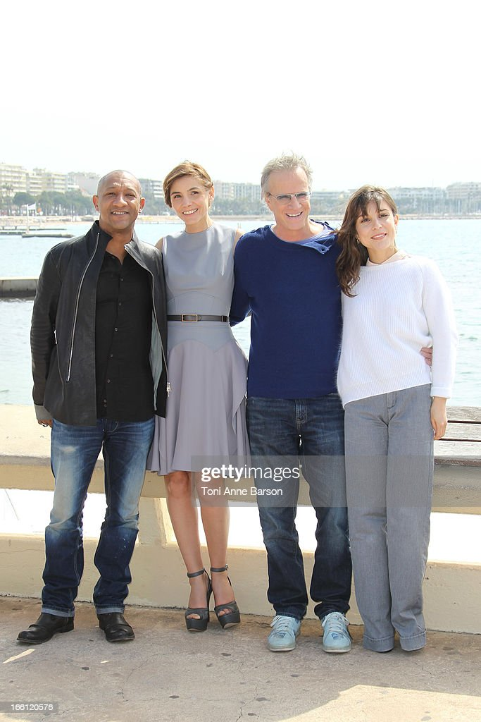 Christophe Lambert, Clotilde Courau, Flore Bonaventura, Edouard Montoute attend 'La Source' Photocall on the Croisette during the 50th MIPTV on April 8, 2013 in Cannes, France.