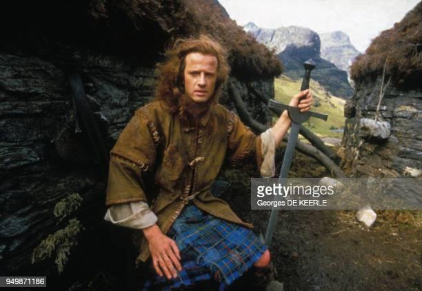 Christophe Lambert joue Robert Heart dans 'Highlander' en juin 1985 RoyaumeUni