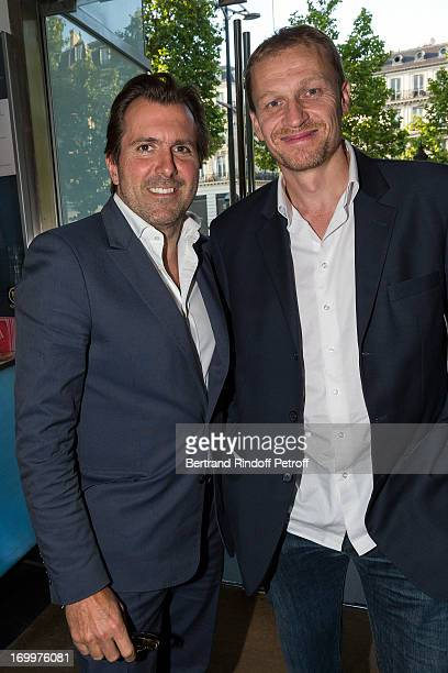 Christophe Lambert managing director of Europacorp and producer Nicolas Altmayer attend the premiere of the film 'Les Petits Princes' at Drugstore...