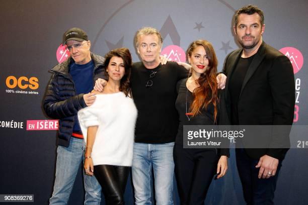 Christophe Lambert Reem Kherici Franck Dubosc Audrey Dana and Arnaud Ducret attend the 21st Alpe D'Huez Comedy Film Festival on January 20 2018 in...