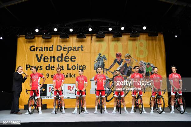 Christophe Laporte of France / Dimitri Claeys of Belgium / Nicolas Edet of France / Jesus Herrada of Spain / Daniel Navarro Garcia of Spain / Anthony...