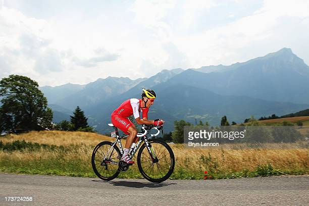 Christophe Le Mevel of France and Team Cofidis Solutions Credits rides during stage seventeen of the 2013 Tour de France, a 32KM Individual Time...