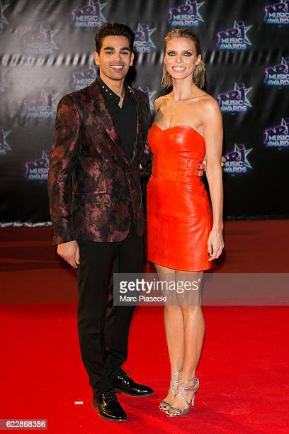 Christophe Licata and Miss France 2002 Sylvie Tellier attend the 18th NRJ Music Awards at Palais des Festivals on November 12 2016 in Cannes France