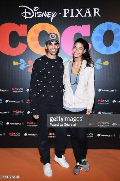 Christophe Licata and Tatiana Silva attend the 'Coco' Paris Special Screening at Le Grand Rex on November 14 2017 in Paris France