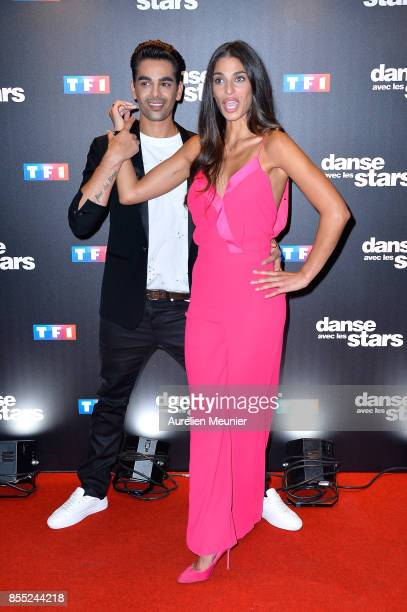 Christophe Licata and Tatiana Silva attend the 'Danse avec les Stars' photocall at TF1 on September 28 2017 in Paris France