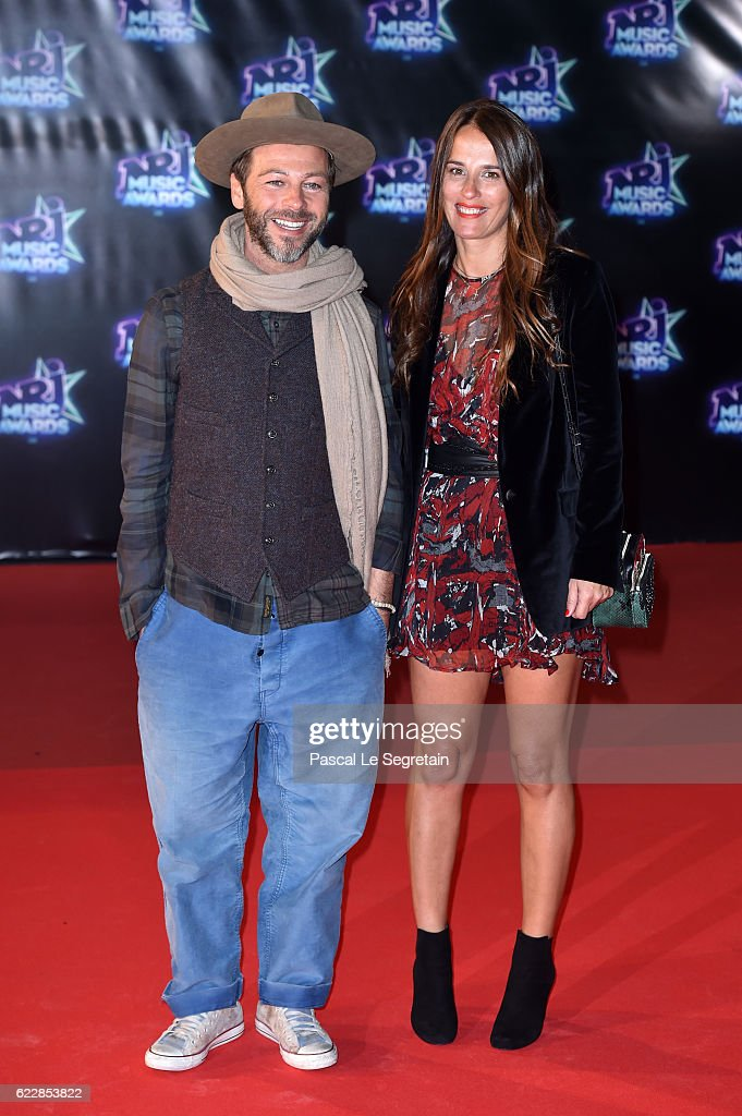 Christophe Mae and his wife attend the 18th NRJ Music Awards at Palais des Festivals on November 12, 2016 in Cannes, France.