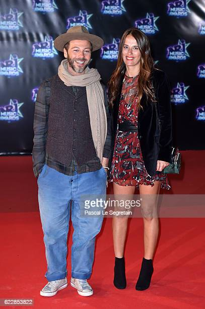 Christophe Mae and his wife attend the 18th NRJ Music Awards at Palais des Festivals on November 12 2016 in Cannes France