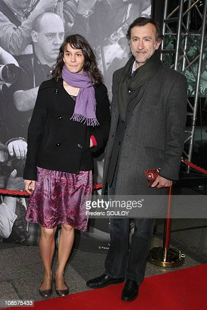 Christophe Malavoy and his daughter Camille in Paris France on April 17 2008